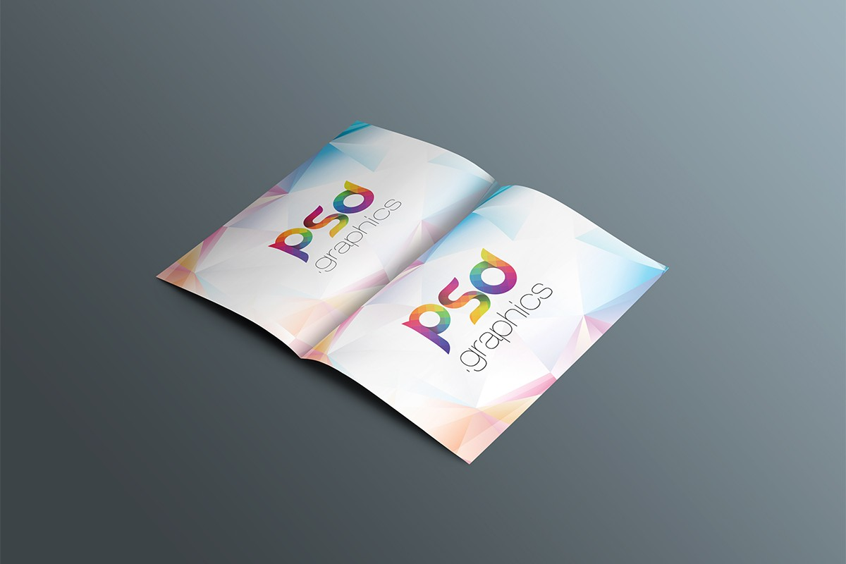 Open Brochure Mockup Template