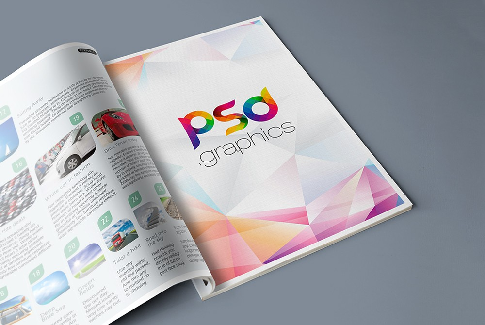 Magazine Advertisement Mockup PSD