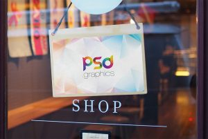 Shop Door Sign Mockup