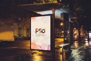 Bus Stand Billboard Advertising Mockup
