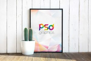 Photo Poster Frame PSD Mockup