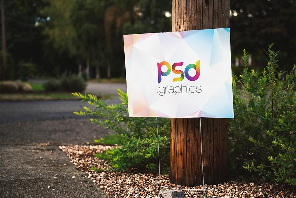 Advertising Placard Mockup PSD