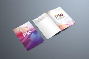 Bi-Fold Brochure Mockup Template