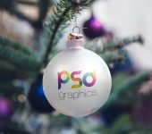 Christmas Tree Ball Ornaments Mockup