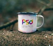 Enamel Mug Mockup PSD