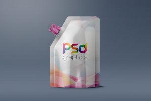 Food Pouch Packaging Mockup PSD