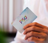 Man Holding Business Card Mockup