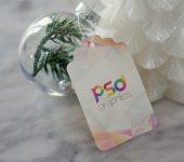 Christmas Gift Tag Mockup PSD