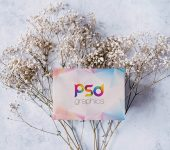 Winter Postcard Mockup PSD